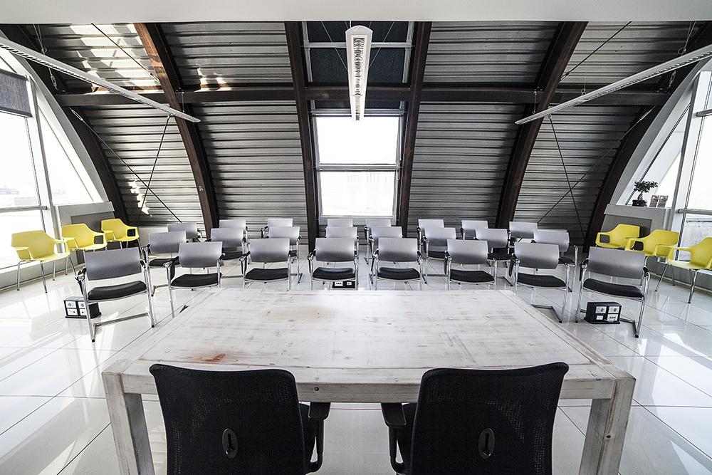 sala riunioni con vista
