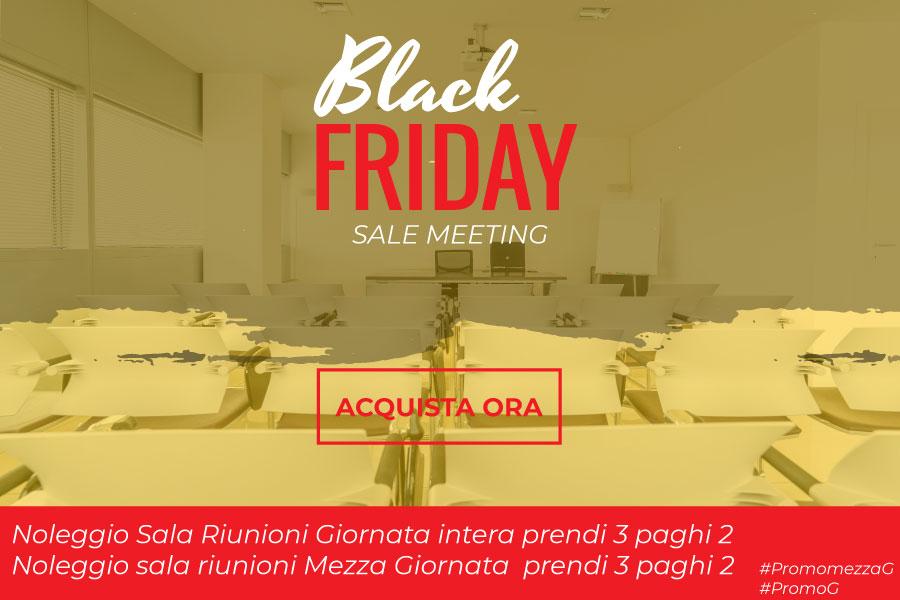 Promozione sale riunioni Black Friday