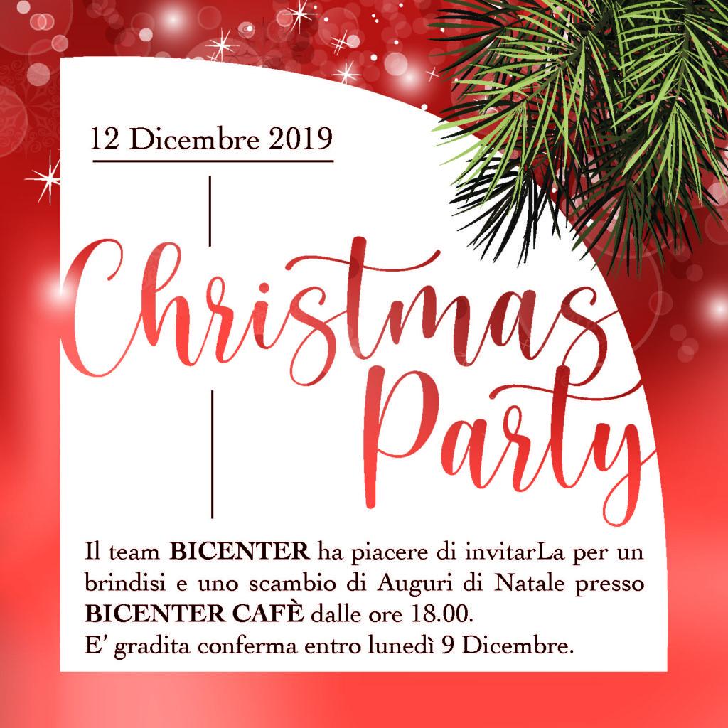 Invito alla festa Natalizia di Bicenter 2019